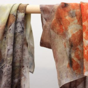 Sjaal verven met natural dye